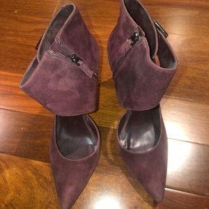 Nine West burgundy suede heels